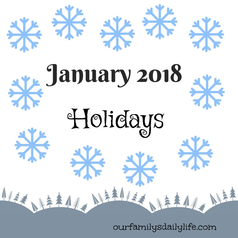Jan 2018 Holidays