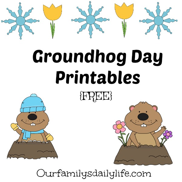 groundhog day printables free