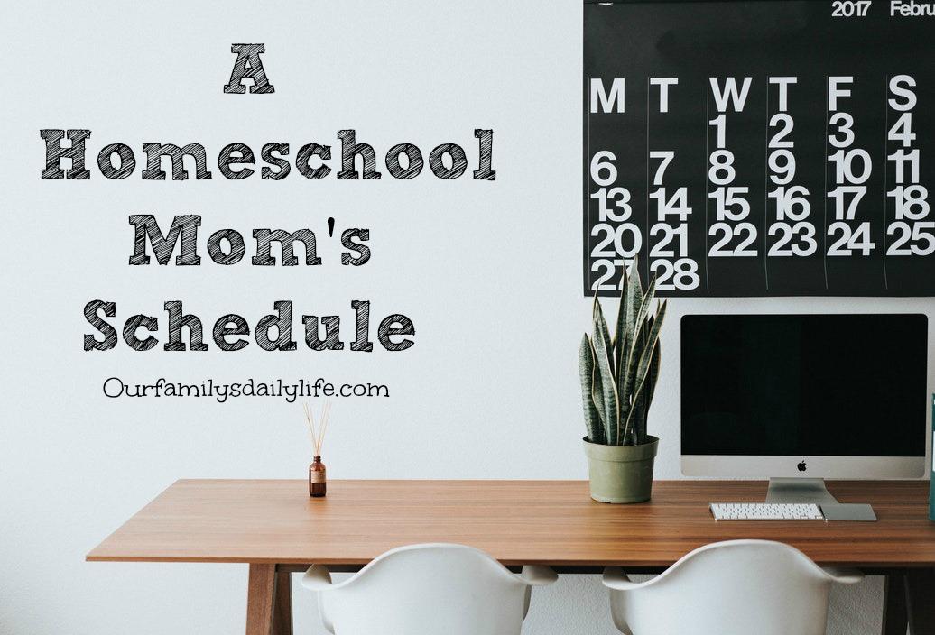 homeschool mom schedule