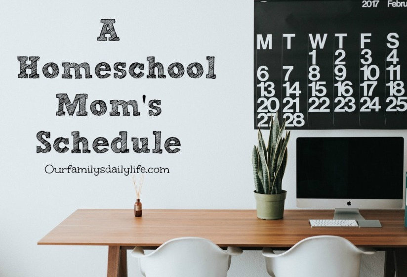 homeschool mom schedule