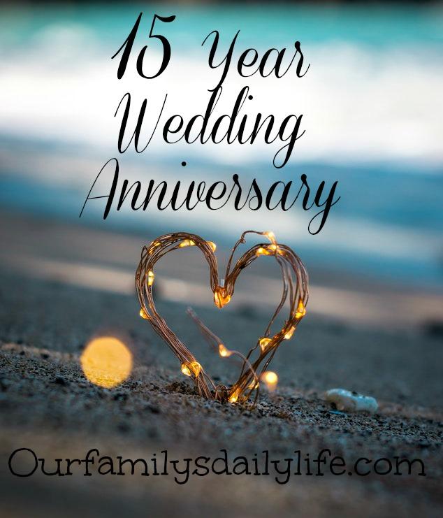 wedding anniversary 15