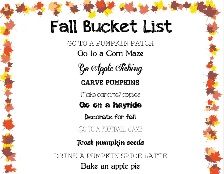 fall bucket list 1