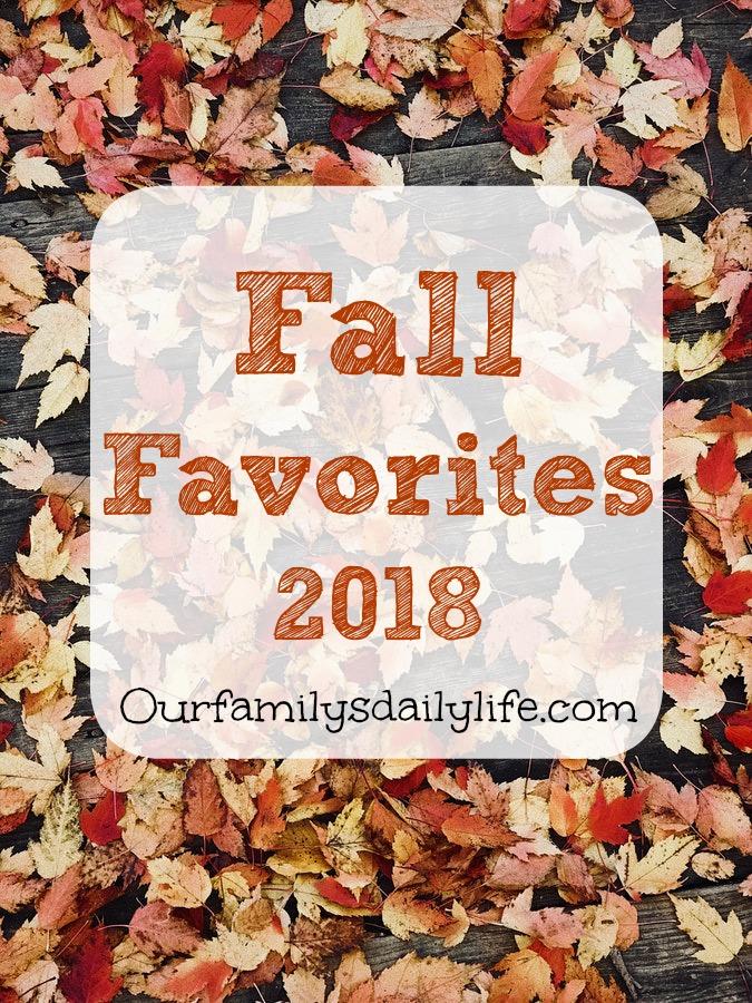 fall favorites 2018 2