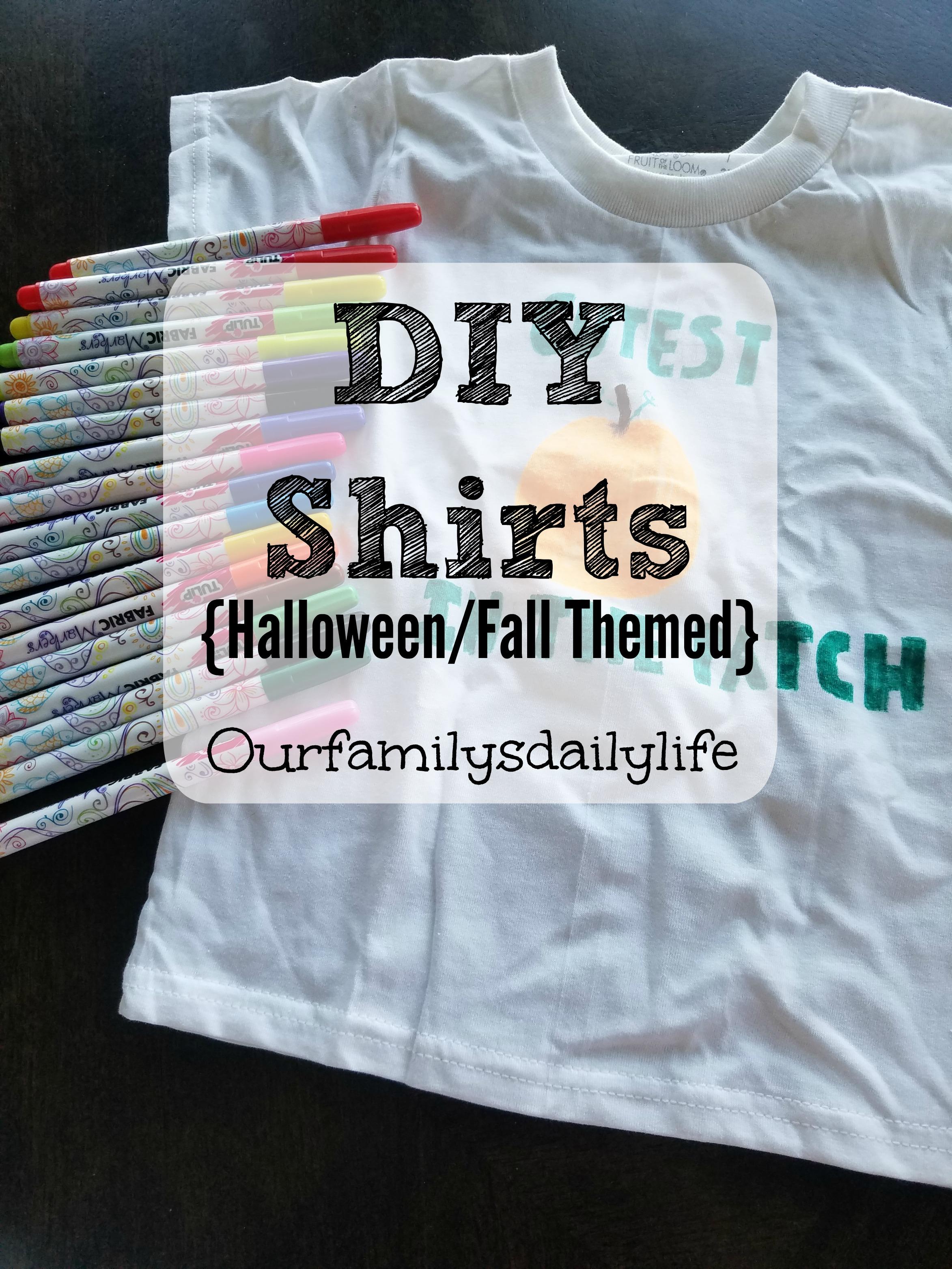 diy shirts halloween fall