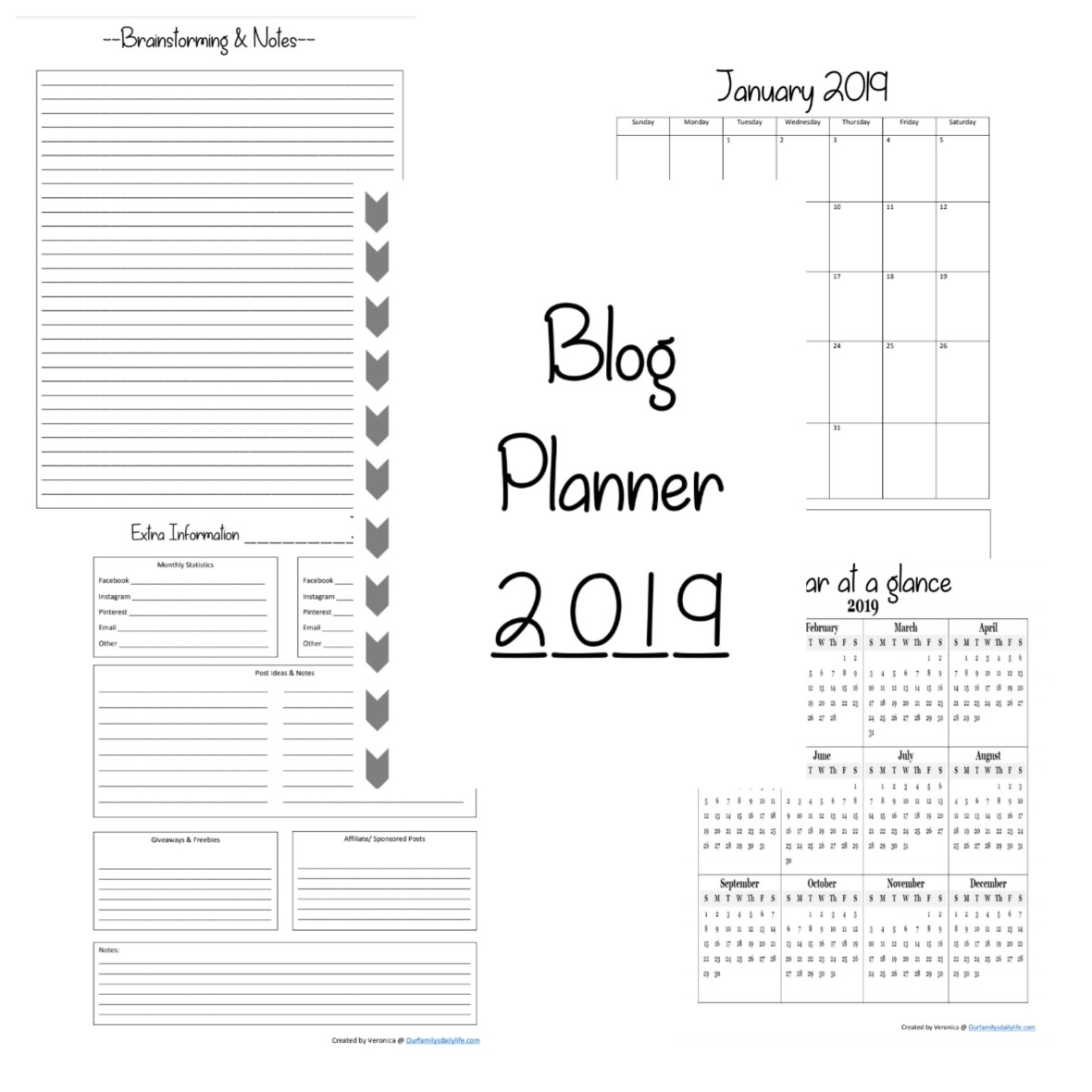 2019 blog planner