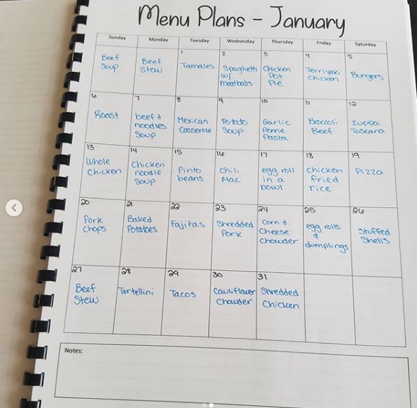 meal plan jan