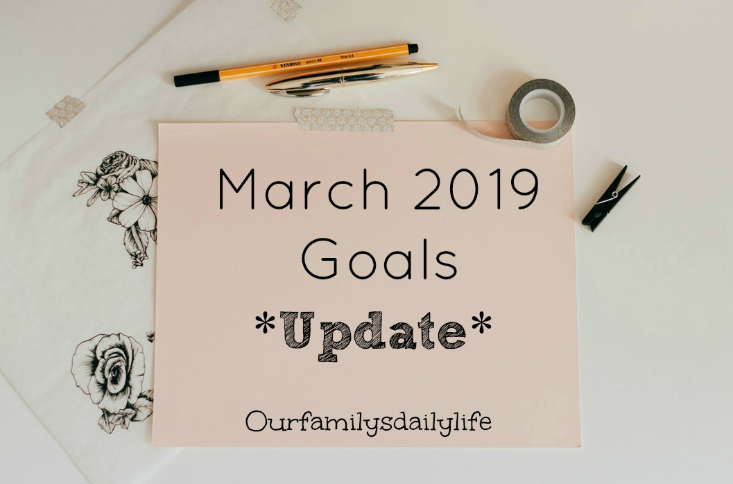 march goals 2019 update