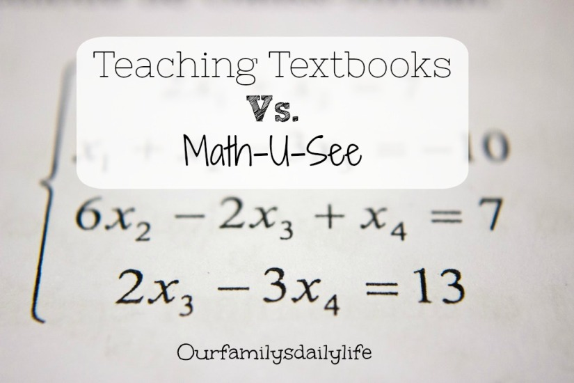 teaching textbooks vs math u see